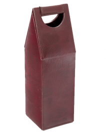 JL Collections Red Leather Wine Bottle Holder